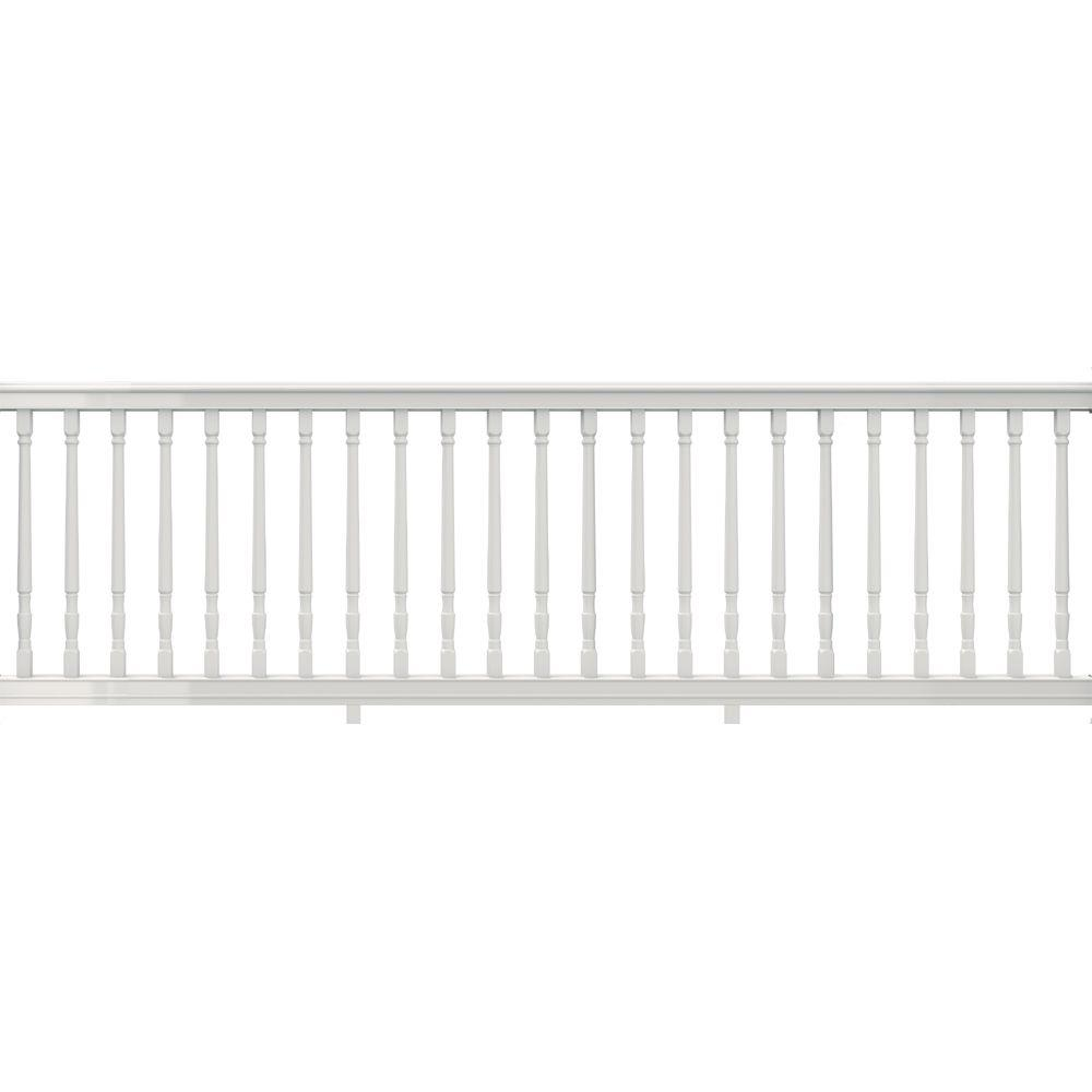 36 in. x 116 in. Vinyl Premier Rail with White Colonial