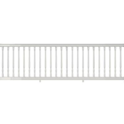 Premier Series 10 ft. x 36 in. White PolyComposite Rail Kit with Colonial Balusters