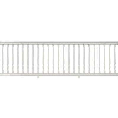 36 in. x 116 in. Vinyl Premier Rail with White Colonial Balusters