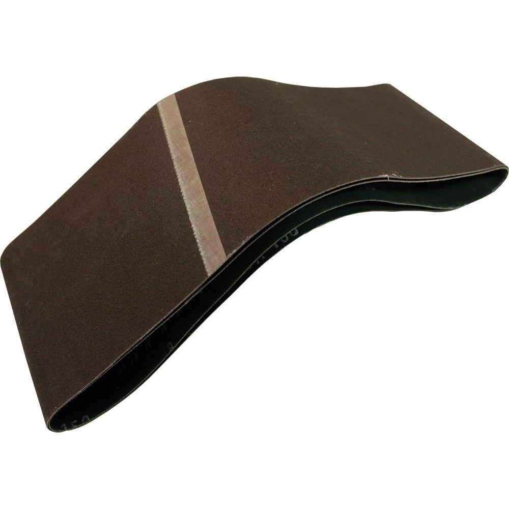 4 in. x 24 in. 150-Grit Abrasive Belt (2-Pack)