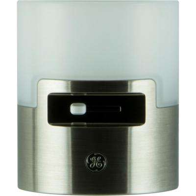 2W LED Dimmable Night Light, Brushed Nickel
