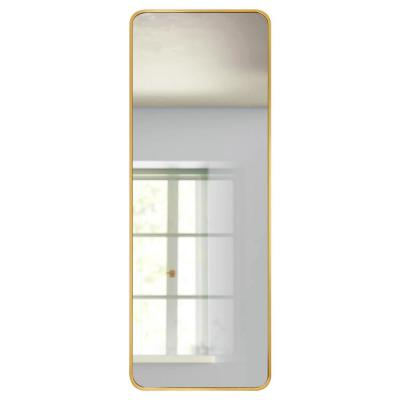 59 in. x 20 in. Modern Style Rectangle Mirror Framed Gold Curved Edge Standing Mirror Full Length Floor Mirror