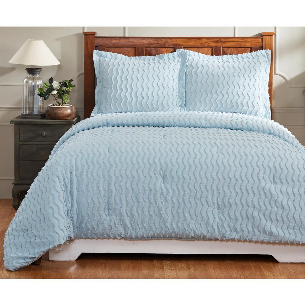 Better Trends Isabella Blue Twin Comforter SS-QUISTWBL