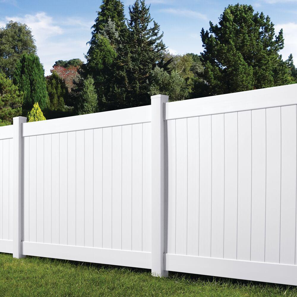 Veranda Acadia 6 Ft X 8 White Vinyl Privacy Panel Fence Kit Qq