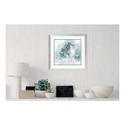 "23 in. H x 23 in. W ""Sealife Batik VI"" by "" June Erica Vess"" Framed Print Wall Art"
