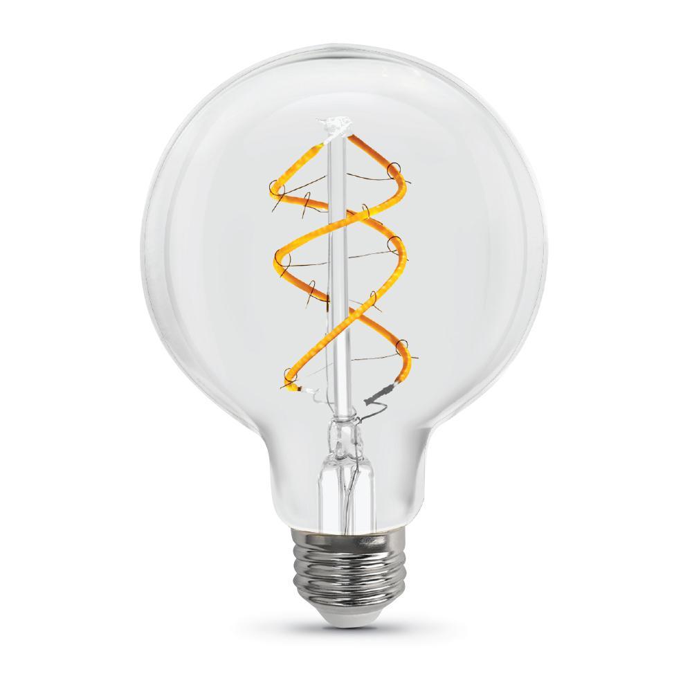 6.5-Watt Soft White (2150K) G25 Dimmable LED Clear Vintage Style Light Bulb