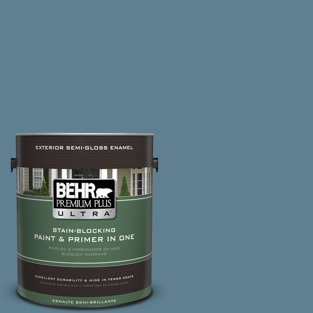 Behr premium plus ultra 1 gal s470 5 blueprint semi gloss enamel s470 5 blueprint semi gloss malvernweather