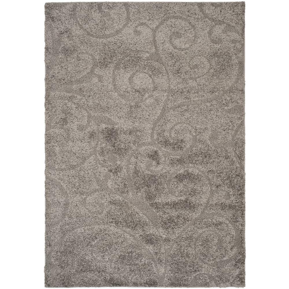 Safavieh Florida Shag Gray 3 ft. 3 in. x 5 ft. 3 in. Area Rug