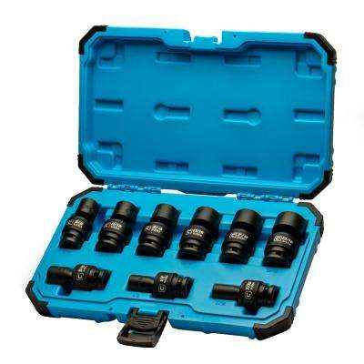 1/2 in. Drive SAE Universal Impact Socket Set (9-Piece)