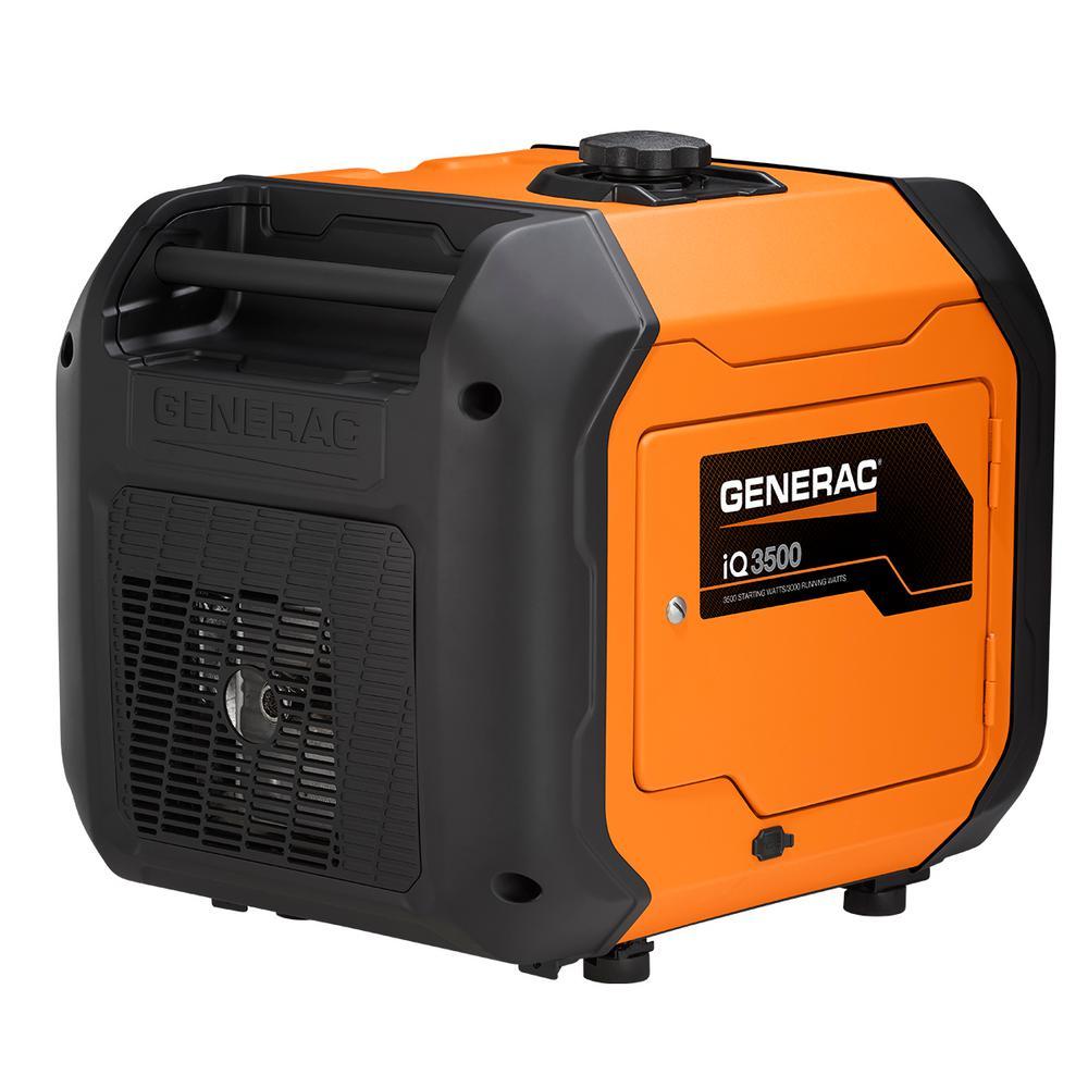Generac Generac iQ3500 3500-Watt Gasoline Powered Electric Start Portable Inverter Generator with PowerRush Technology 50 State/CSA