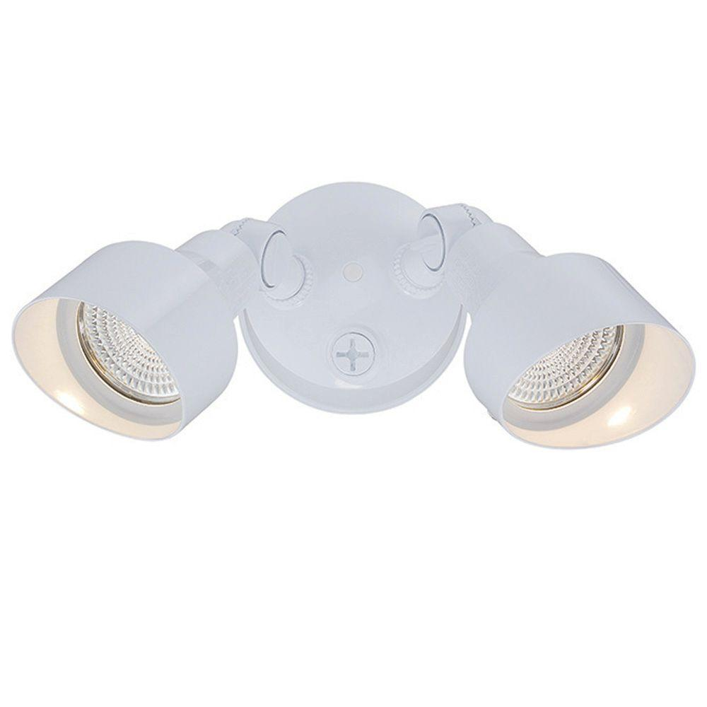 Acclaim Lighting Flood Lights Collection 2-Light White Outdoor LED Light Fixture