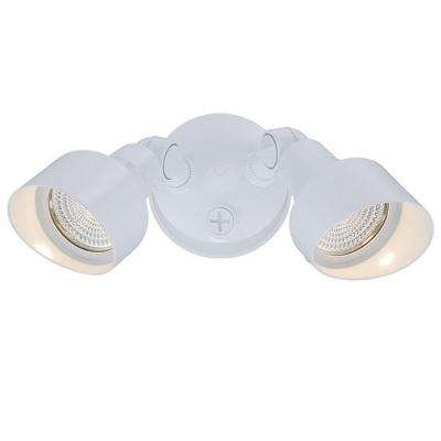 Flood Lights Collection 2-Light White Outdoor LED Light Fixture