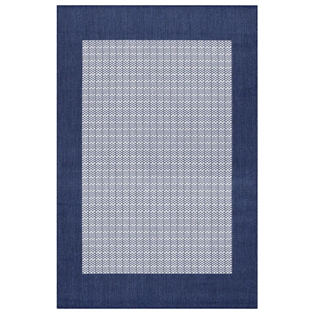 Couristan Recife Checkered Field Ivory Indigo 9 Ft X 13 Indoor
