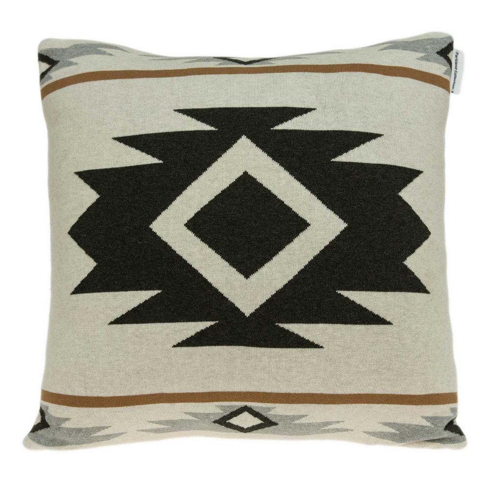 Homeroots Jordan 20 In Tan Geometric Throw Pillow Cover