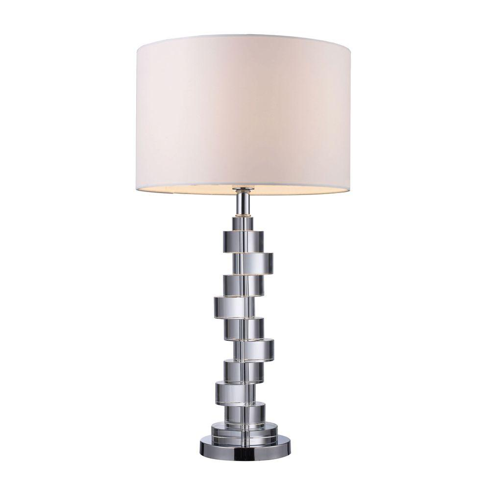 Titan Lighting Armagh 30 In Clear Crystal And Chrome Table Lamp