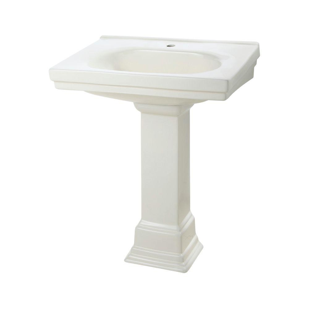 Structure Suite 20-5/80 in. Pedestal Sink Basin in Biscuit