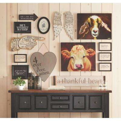 "11.75 in. H x 24.5 in. W ""Life is Short"" Wall Art"