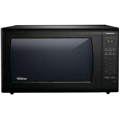 2.2 cu. ft. Countertop Microwave in Black Built-In Capable with Sensor Cooking and Inverter Technology, Black