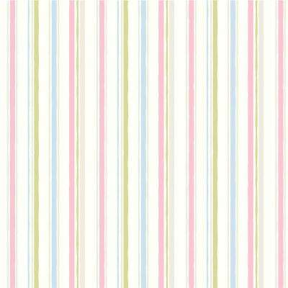 Macey Pink Wiggle Stripe Wallpaper Sample