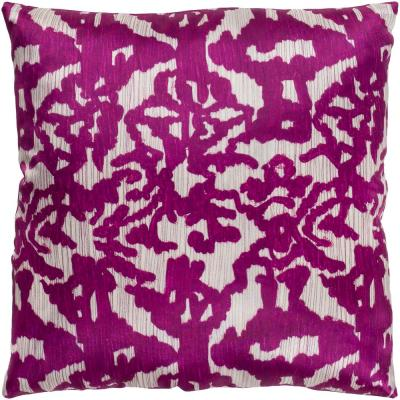 Alarel Purple Graphic Polyester 22 in. x 22 in. Throw Pillow