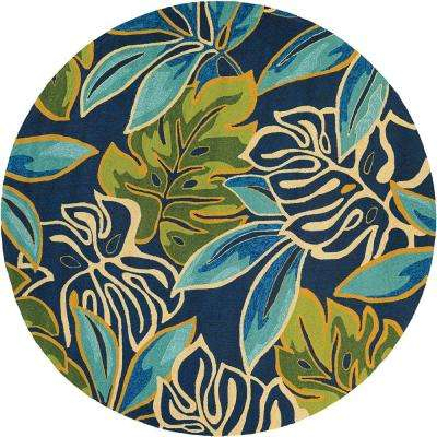 Round - Blue - Outdoor Rugs - Rugs - The Home Depot