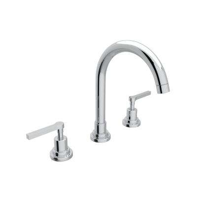 Lombardia 8 in. Widespread 2-Handle High-Arc Bathroom Faucet in Polished Chrome
