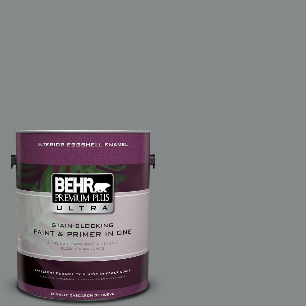 BEHR Premium Plus Ultra 1-gal. #N460-5 Slate Rock Eggshell Enamel Interior Paint