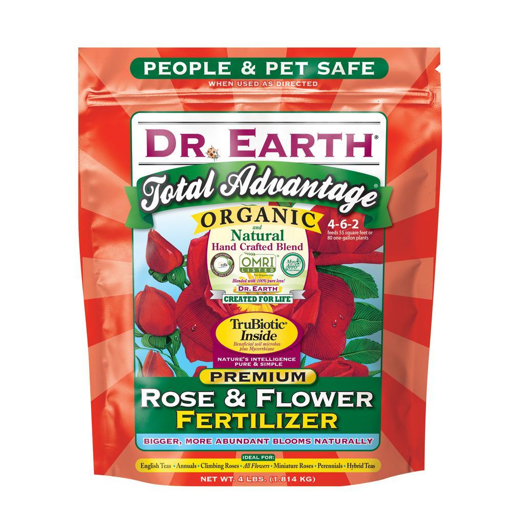 DR. EARTH 4 lb. Total Advantage Rose and Flower Fertilizer