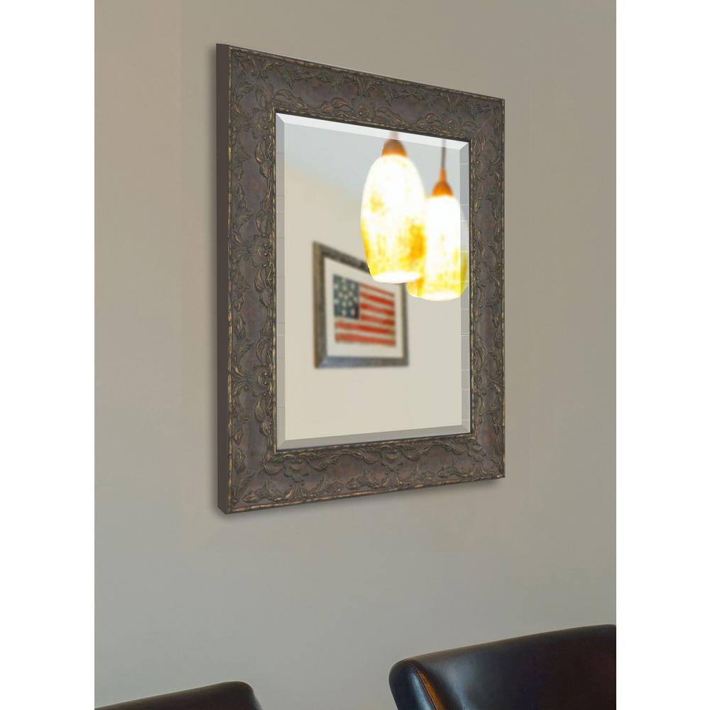 26 in. x 22 in. Maclaren Brown Beveled Vanity Wall Mirror