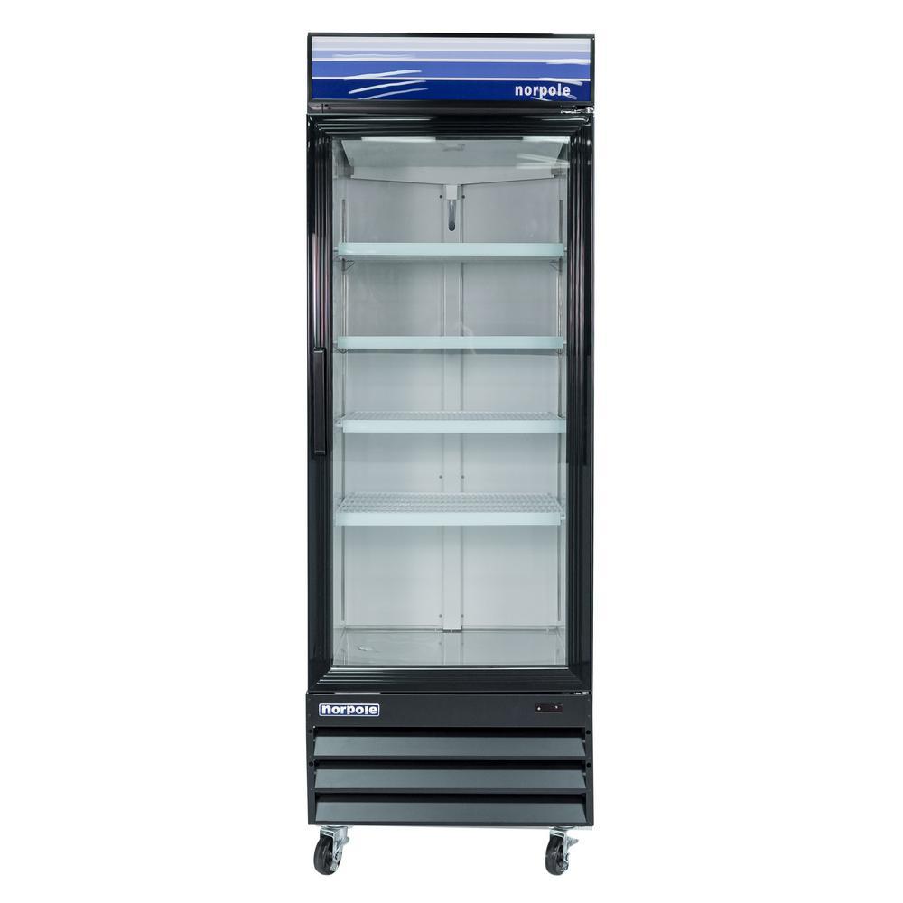 Maxx cold x series 12 cu ft single door merchandiser - Glass door fridge for home ...