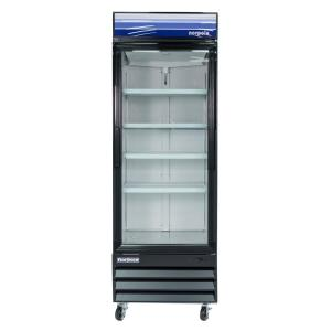 norpole 28 in w 23 cu ft single swing glass door refrigerator in black npgr1 sb the home depot. Black Bedroom Furniture Sets. Home Design Ideas