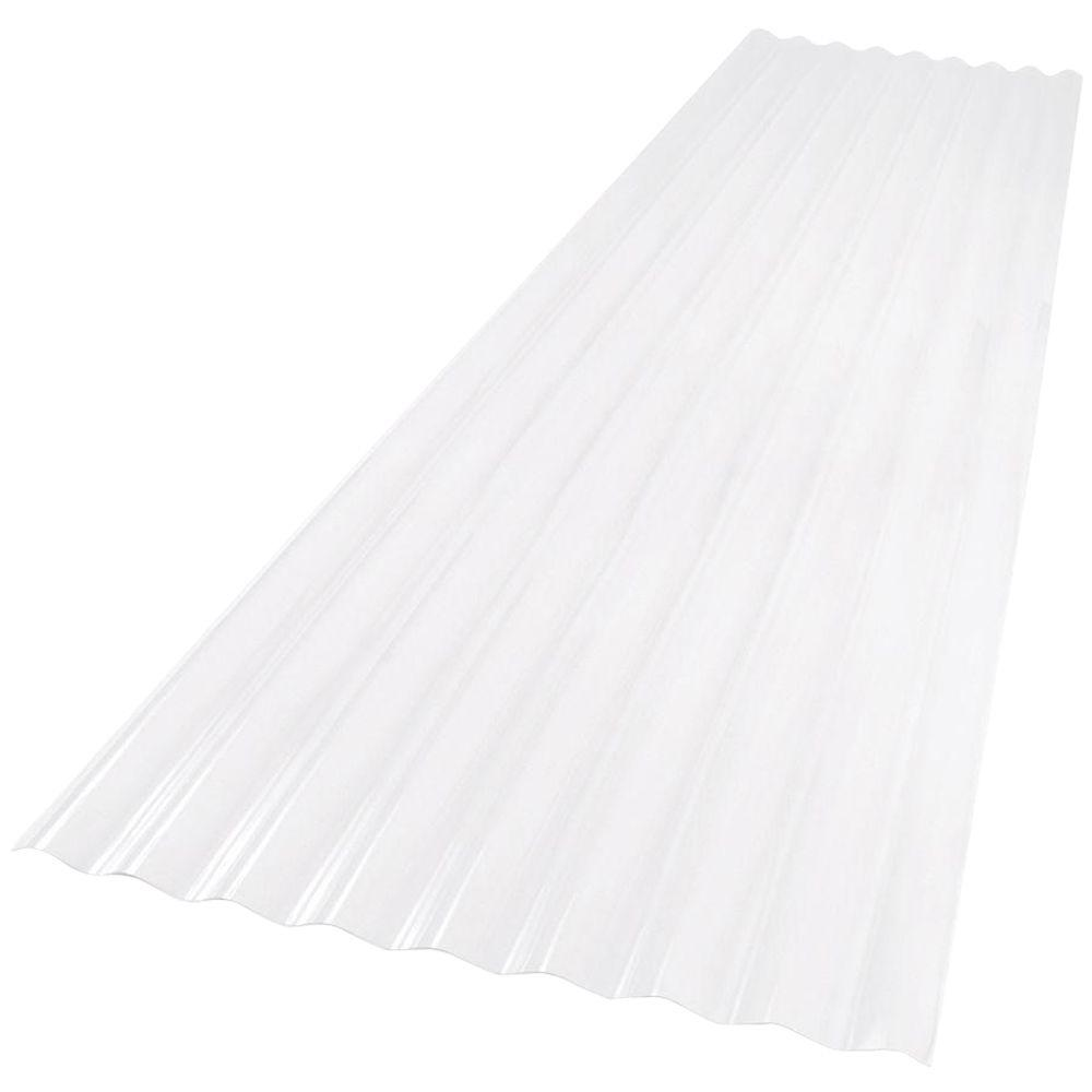 26 in. x 8 ft. Clear PVC Roof Panel