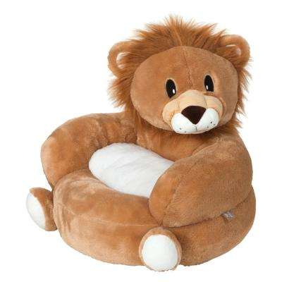 Brown Children's Plush Lion Character Chair