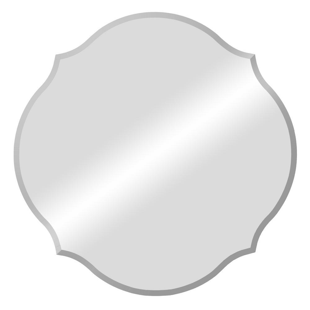 Medium Oval Beveled Glass Mirror (20.5 in. H x 20.5 in. W)