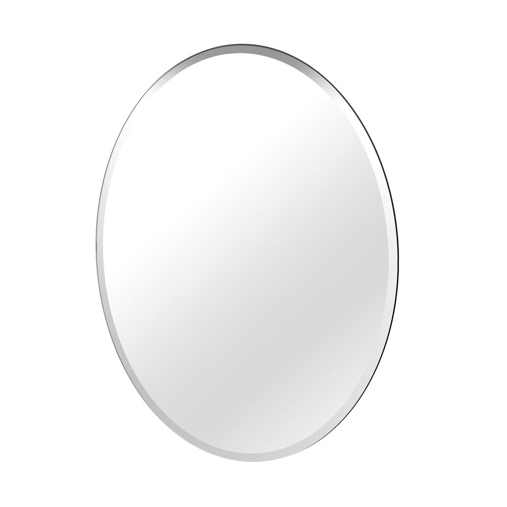 Flush Mount 32 in. x 24 in. Frameless Oval Mirror