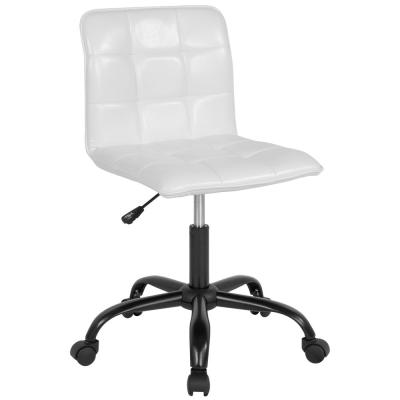 White Leather Office/Desk Chair
