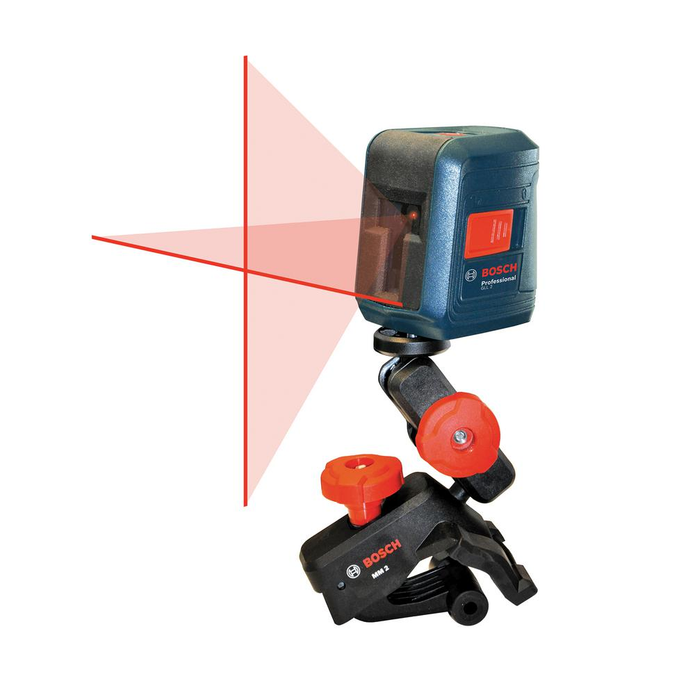 30 ft. Self-Leveling Cross-Line Laser Level with Clamping Mount