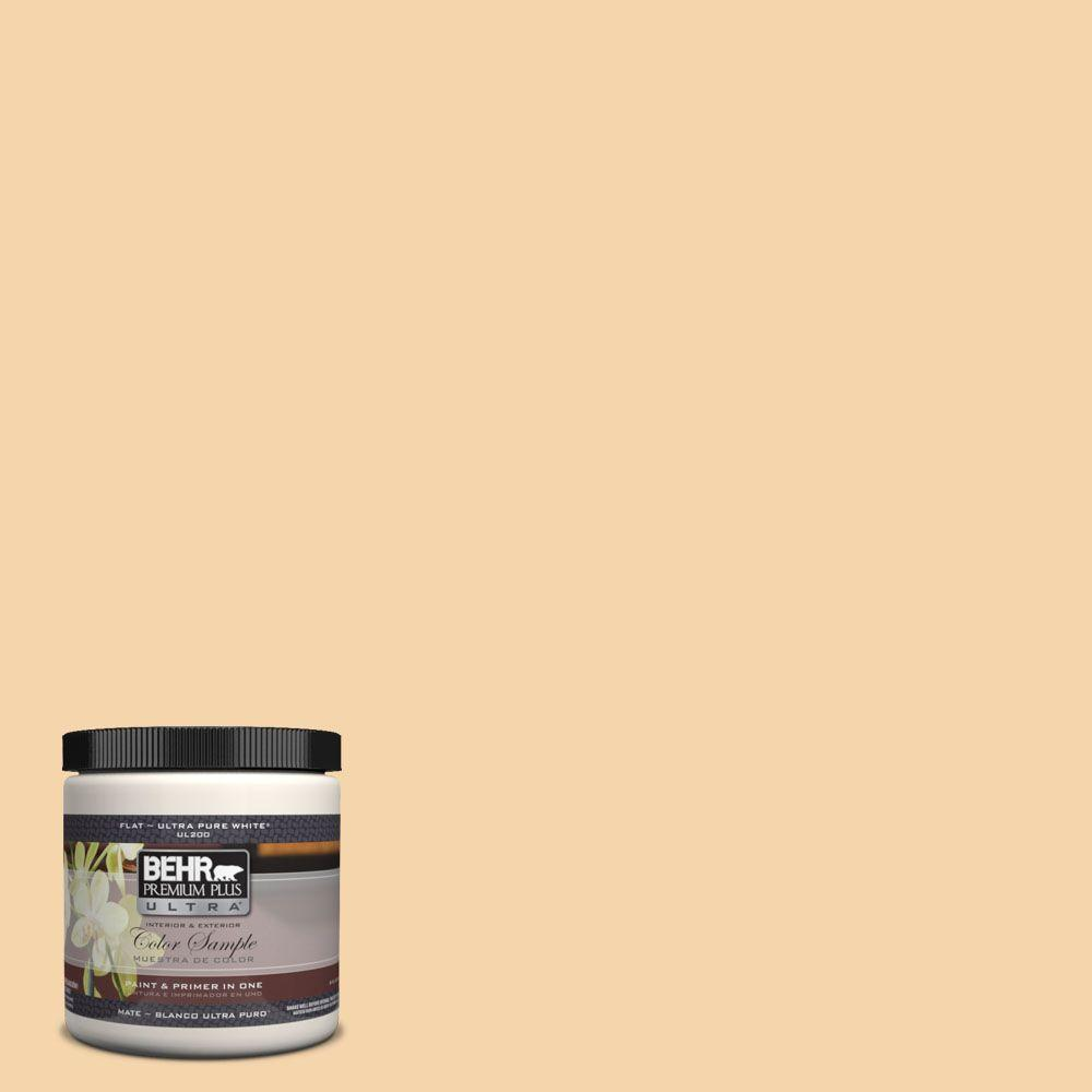 BEHR Premium Plus Ultra 8 oz. #UL150-12 Pale Honey Interior/Exterior Paint Sample