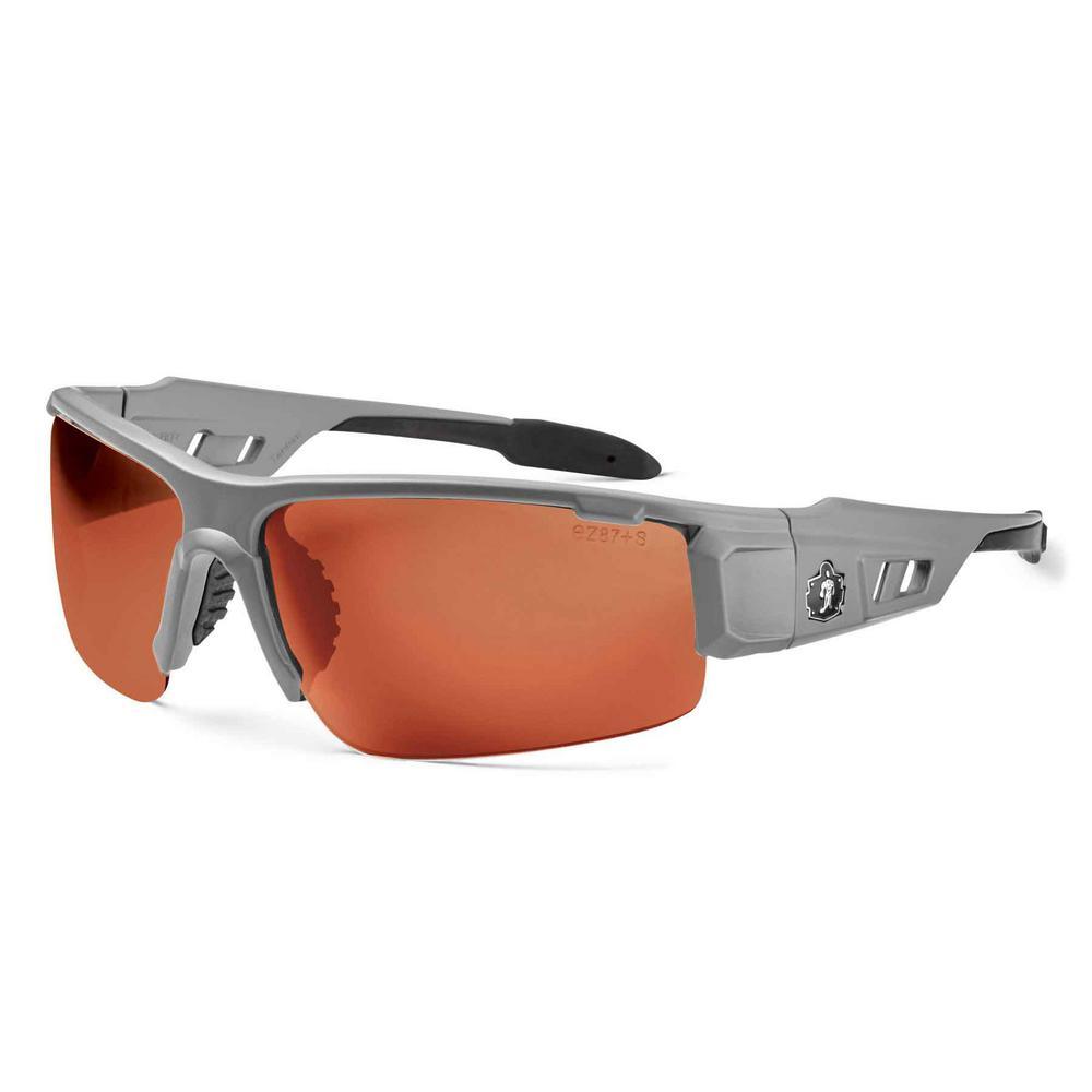 4452403ccc Ergodyne Skullerz Dagr Matte Gray Polarized Safety Glasses