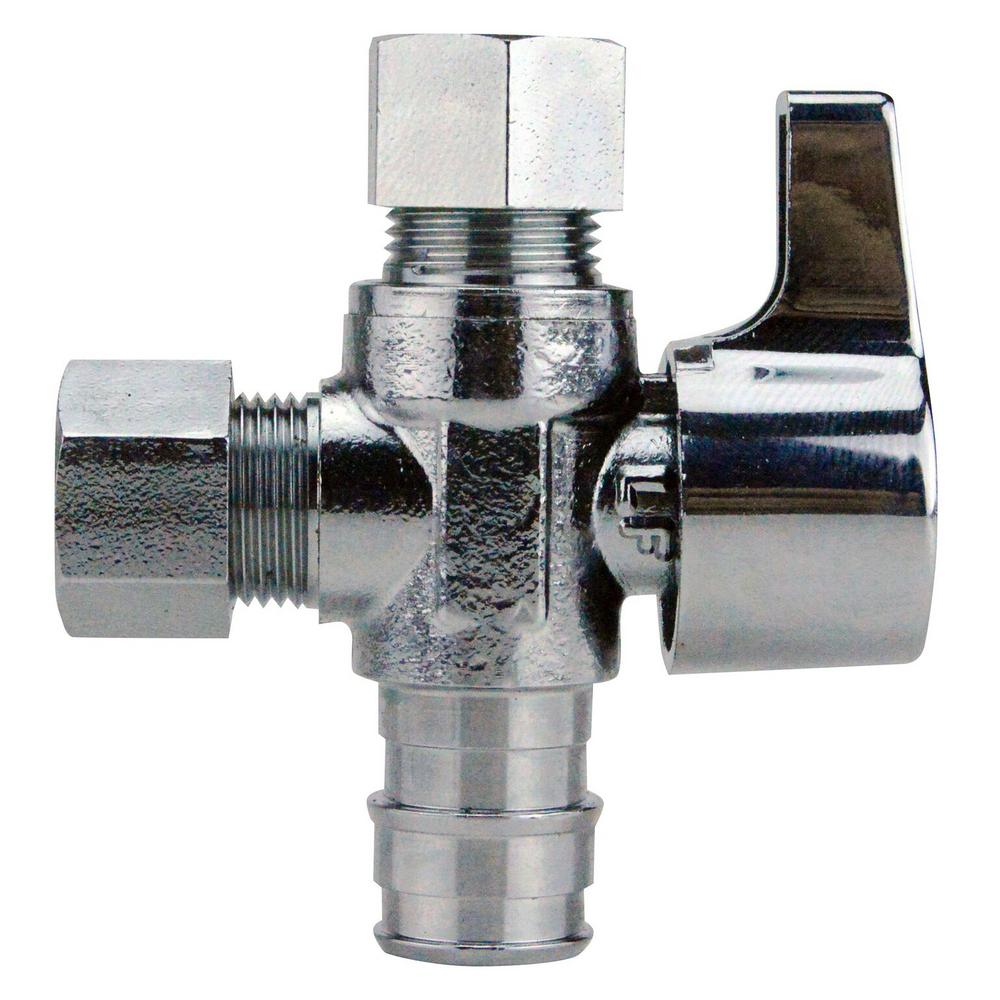 1/2 in. Chrome-Plated Brass PEX-A Barb x 3/8 in. Compression Dual