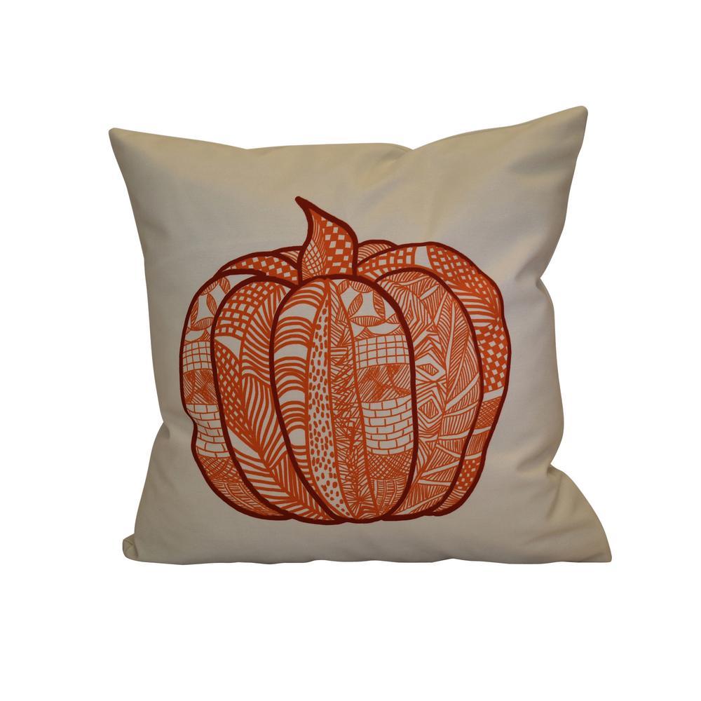 Geometric Print Pillow Cream E by design Pumpkin Spice