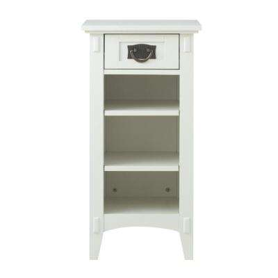 Charmant White Storage End Table