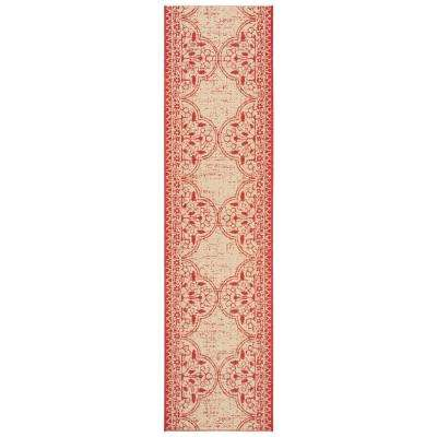 Linden Red/Cream 2 ft. x 8 ft. Runner Rug
