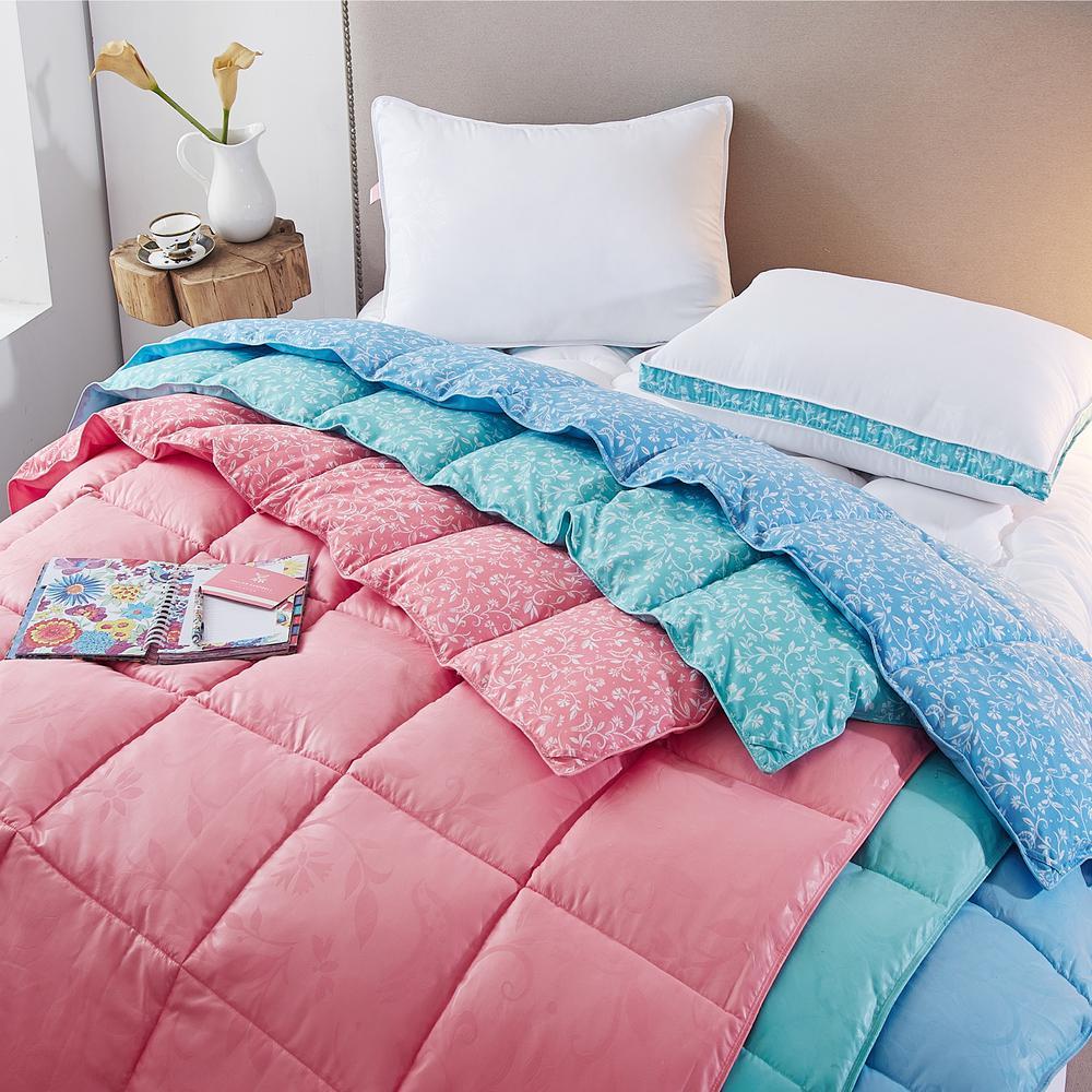 Bird on Branch Flamingo Pink Queen Comforter Set