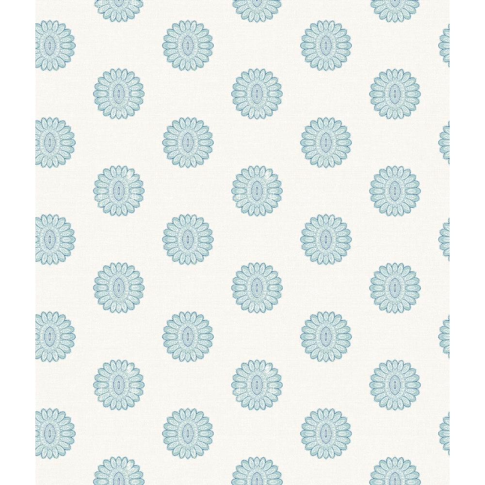 A Street Lise Aquamarine Medallion Wallpaper 2657 22233