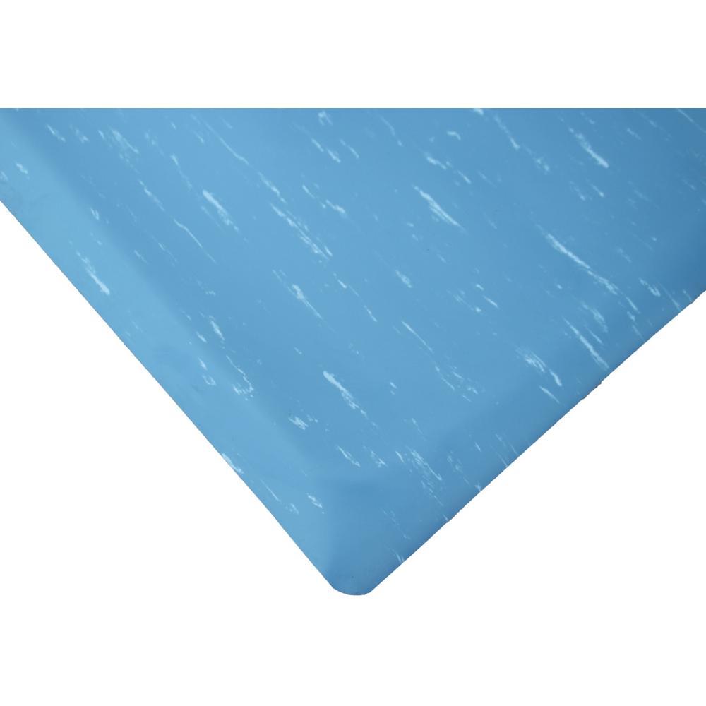 Rhino Anti-Fatigue Mats Marbleized Tile Top Blue 2 ft. x ...