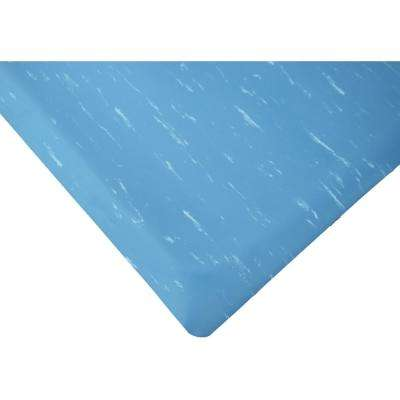 Marbleized Tile Top Blue 2 ft. x 9 ft. x 7/8 in. Anti-Fatigue Commercial Mat
