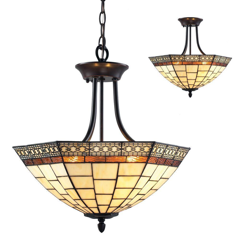 Filament Design Lawrence 3-Light Chestnut Bronze Incandescent Ceiling Flushmount