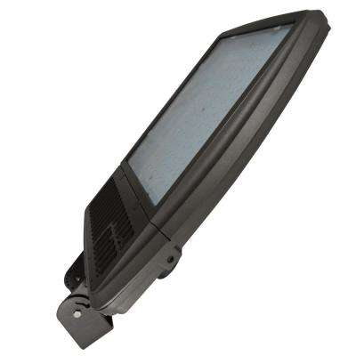 256-Watt Bronze Integrated LED Outdoor Flood Light, Symmetrical, 5000K CCT, Bracket Mount