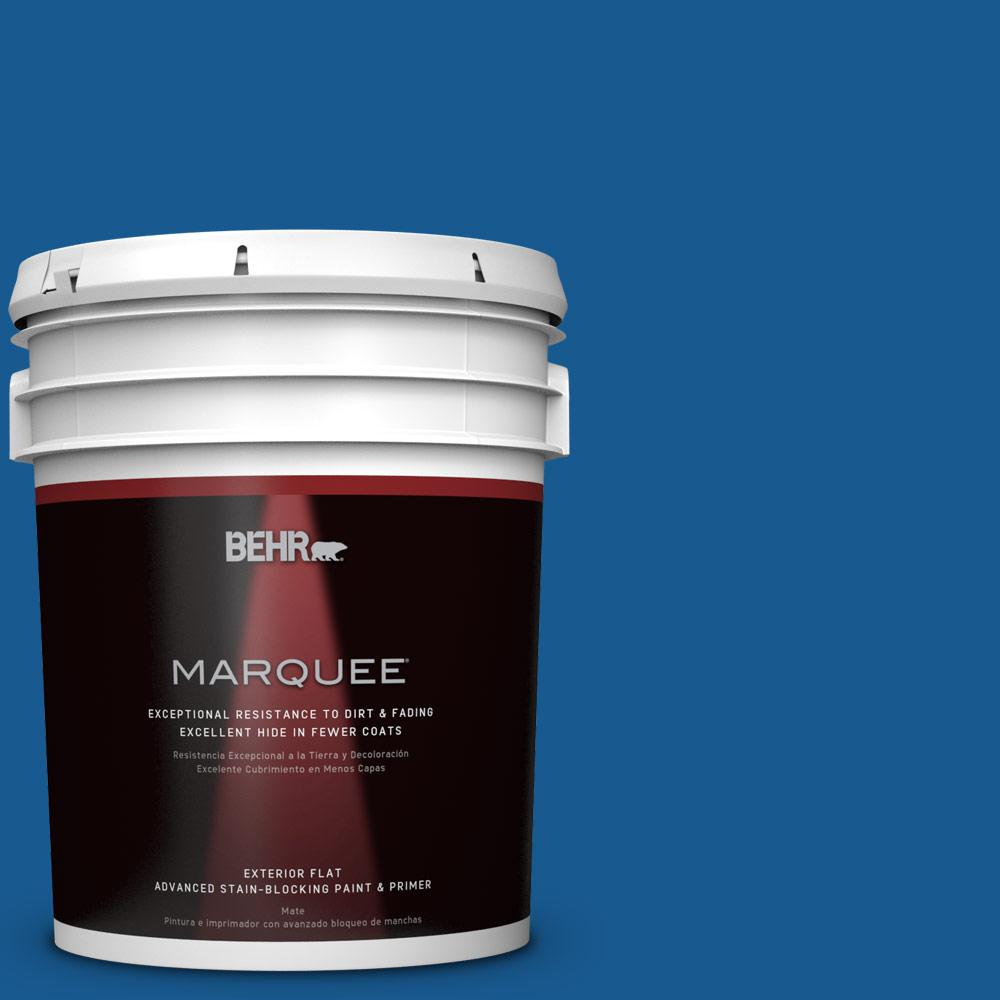 BEHR MARQUEE 5-gal. #S-G-570 Sapphire Lace Flat Exterior Paint